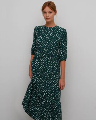 Polka Dot Midi Smock Dress