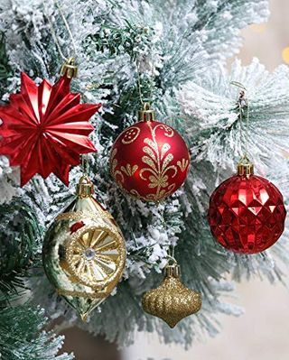 Red & Gold Ball Ornaments