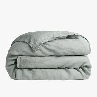 Edged Linen Duvet Cover