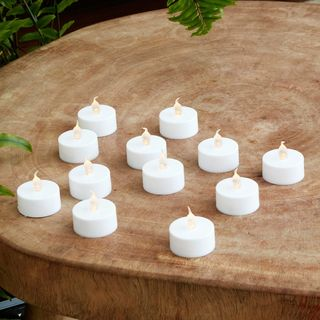 12 Flickering Battery Operated LED Tea Lights