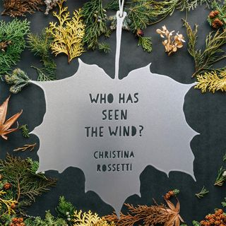 Leaf Quote - Who has seen the wind? - Christina Rossetti