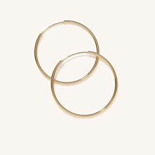 Large Hoops in 14k Yellow Gold