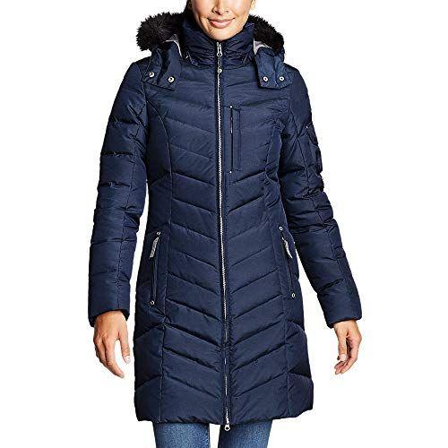 Womens Long Parka Jacket,Warm Faux Fur Lining Coat Ladies Girls Waterproof Overcoat Zulmaliu