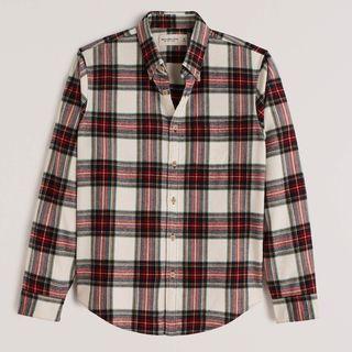 softAF Flannel Button-Up Shirt