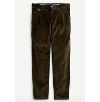 Single-Pleat 10-Wale Corduroy Pants