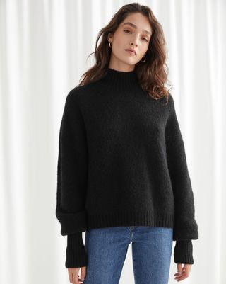 Pull en tricot à col roulé en alpaga mélangé