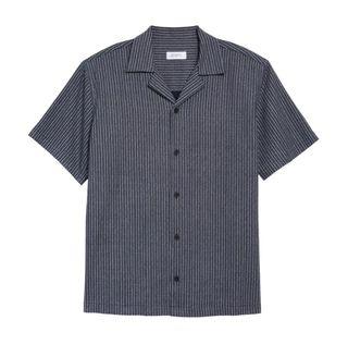Canty Stripe Short Sleeve Camp Shirt