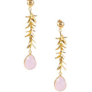 Rose Seagrass Earrings