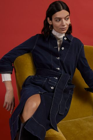 Denim Belted Shirt Dress, £140