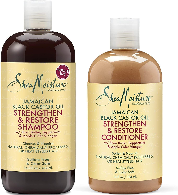 Shea Moisture Strengthen, Grow & Restore Shampoo and Conditioner Set