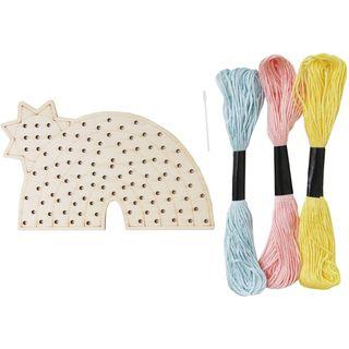 Rainbow Wooden Threading Kit
