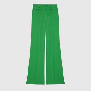 Wool Twill Flare Pant