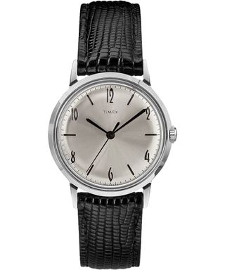 Timex Marlin 34mm Hand-Wound Leather Strap Watch