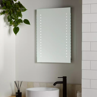 Pixel Wall Mounted Illuminated Bathroom Mirror