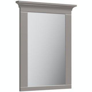 Orchard Winchester graphite grey bathroom mirror