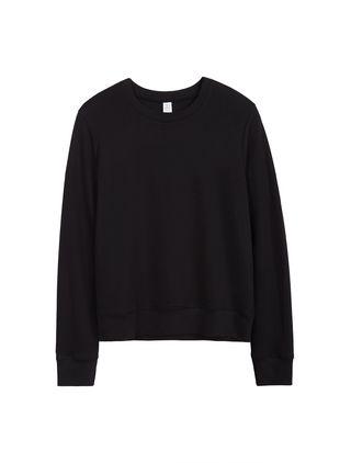 Cotton Modal Interlock Pullover Sweatshirt