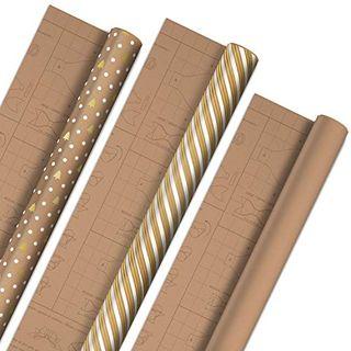 Papier do pakowania z szablonami kokardek DIY
