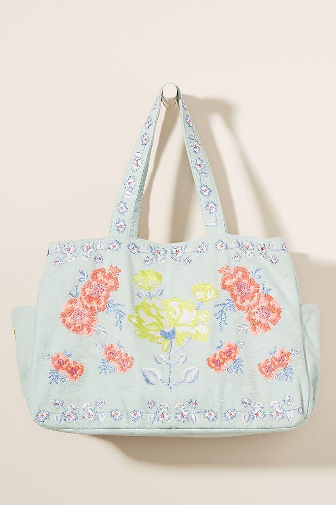 beach bag tote bag with pocket,summer bag,perky tote bag blue and white tote bag Trendy tote bag shopping bag seersucker tote bag