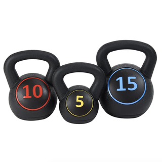 Everyday Essentials Wide Grip 3-Piece Kettlebell Set