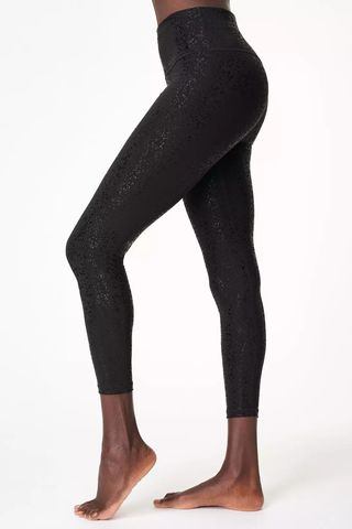 Goddess Foil 7/8 Workout Leggings