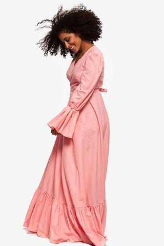 """""""Gabrielle"""" Dress Linen Maxi Pink"""