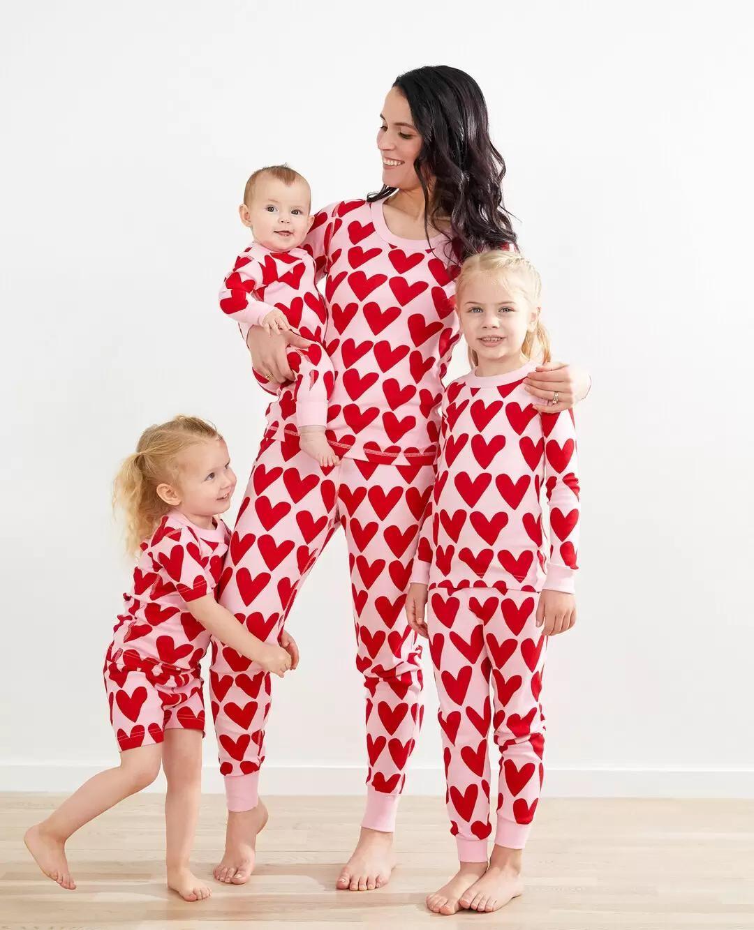 Sleepwear Cute Love Brothers Newborn Gift Present Family Baby Boy Boy/'s Little Big Brother Red and White Striped Pyjama Set Boy/'s PJs