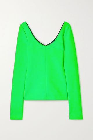 Neon stretch-knit top