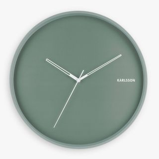 Karlsson Hue Silent Sweep Metal Wall Clock, 40cm, Green