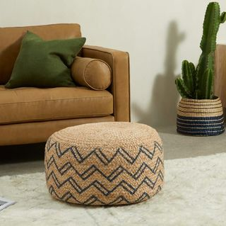 Elian Pouffe, Natural & Midnight Blue