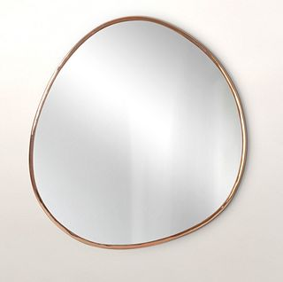 Rose Gold Pebble Mirror Extra Large