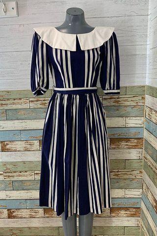 80s - Going 1940s Stripe Dress