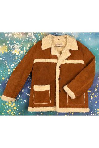 Vintage 70s Rancher Shearling Coat