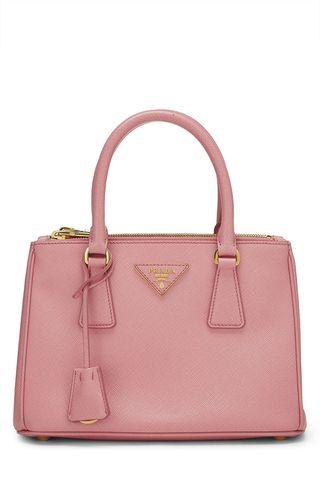 Pink Saffiano Galleria Mini