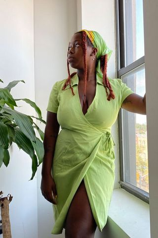 Silk Wrap Dress - Medium