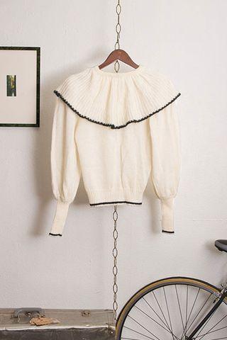 Vintage Clovis Ruffin Knit Sweater