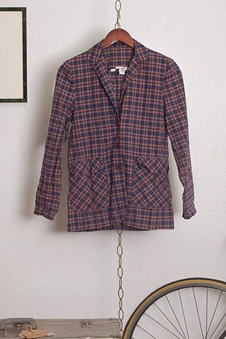 Vintage Plaid Shirt/Jacket with Pockets