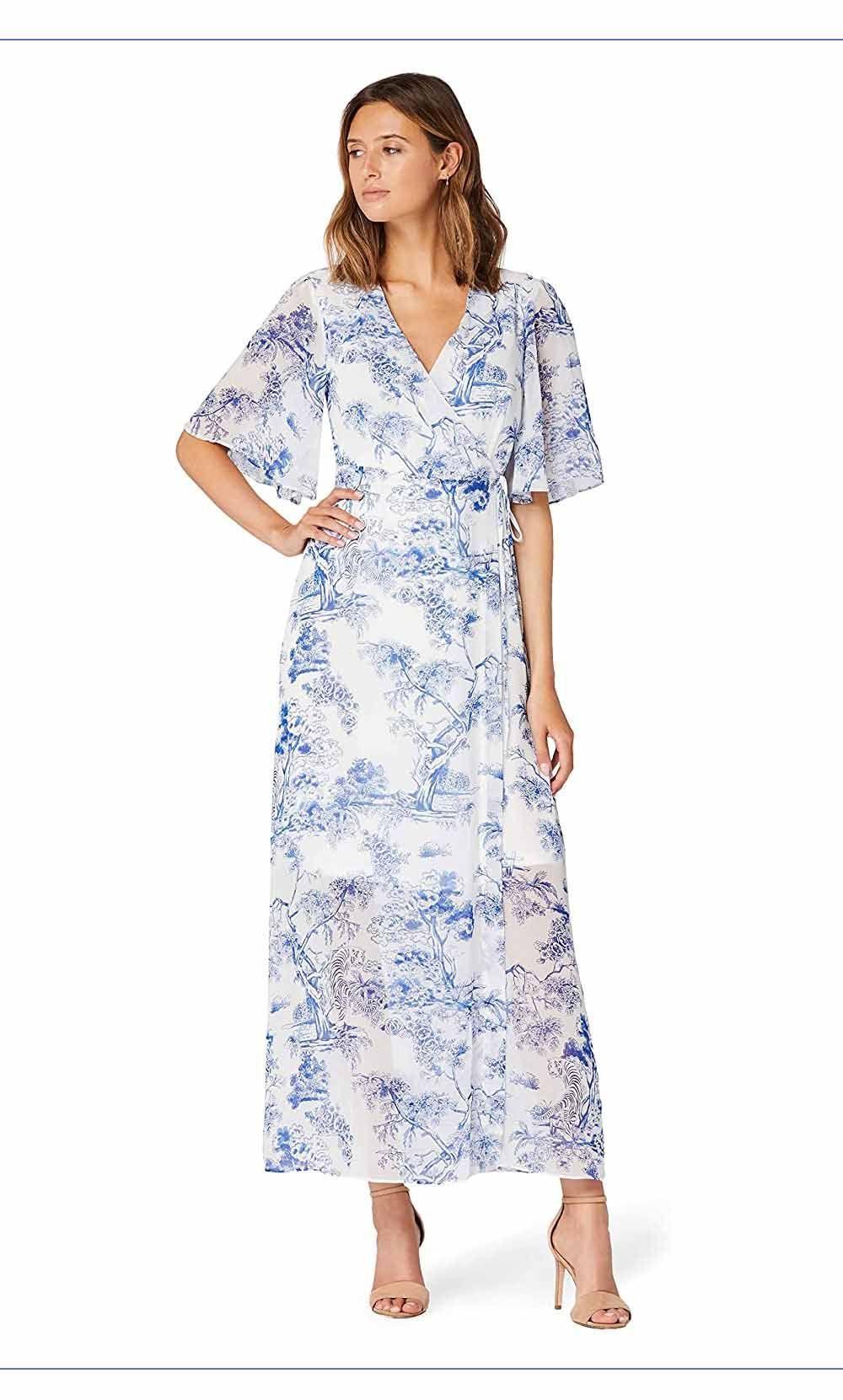Maxi Chiffon Wrap Dress