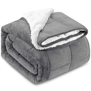 Fleece Weighted Blanket for Adults (10lbs, 50