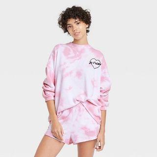 Women's Tie-Dye Je T'Aime Pajama Set