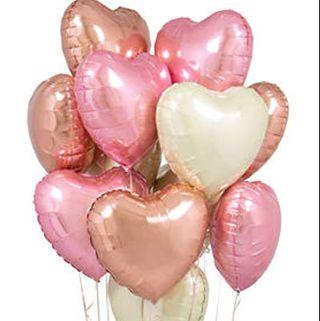 Rose Gold Heart Balloons