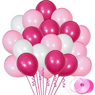 Rose Red, White, and Pink Balloons