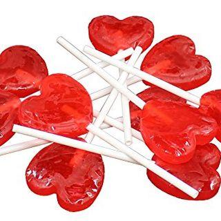Strawberry Heart Lollipops