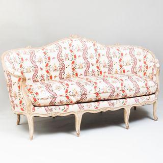 Louis XV Cream-Painted Canapé en Corbeille