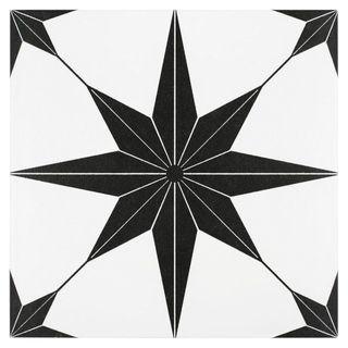 SomerTile Cilento Nero Porcelain Floor and Wall Tile
