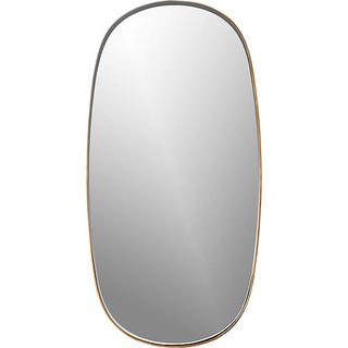 Rogue Small Oval Brass Mirror