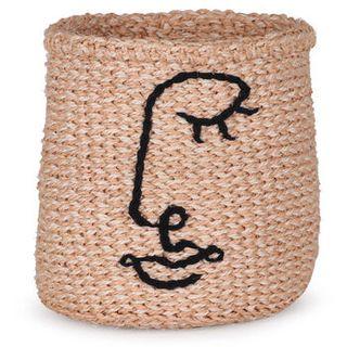 Embroidered Face Basket