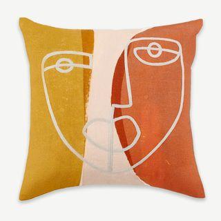 Salo Embroidered Face Cushion – Multi