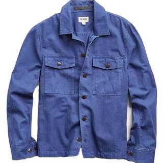 Todd Snyder Italian Herringbone CPO Jacket in French Blue