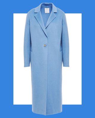Emilie Brushed Wool-Blend Felt Coat