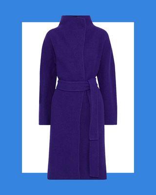 Jasper Belted Wool-Felt Coat